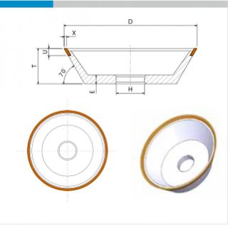 EHWA Standardabmessung 11V9 Schleifscheibe
