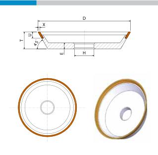 EHWA Standardabmessung 12V9 Schleifscheibe