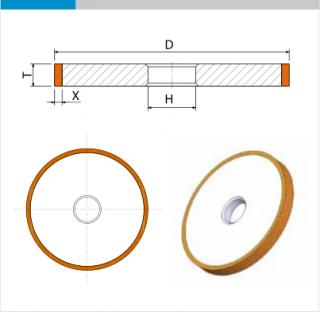 EHWA Standardabmessung 1A1 Schleifscheibe