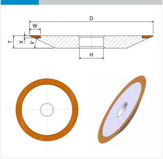 EHWA Standardabmessung 4B2 Schleifscheibe